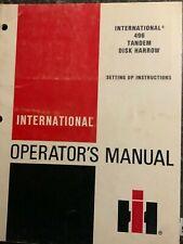 New Listinginternational 496 Tandem Disk Harrow Operators Manual