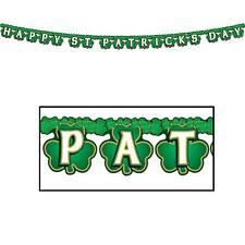 Shamrock Happy St Patrick's Day Streamer