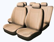 Fiat 500 L X Velours Universal Sitzbezug Sitzbezüge Beige