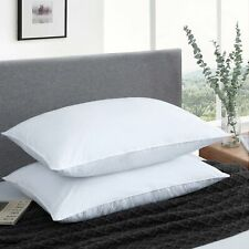 100% Natural Feather Down Bed Pillows Bedding Set of 2 with 100% Cotton Shell