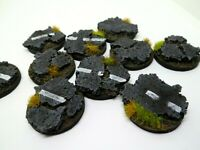 10 x 32mm Broken  Road resin bases for warhammer ,roleplaying, minatures