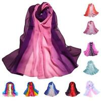 1PC 160*50CM Lady Gradient Color Long Wrap Women's Shawl Chiffon Scarf Scarves