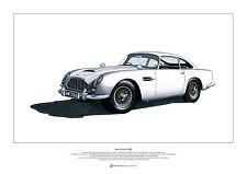 Aston Martin DB5 ART POSTER A2 size