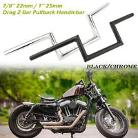 7/8''/ 1'' Motorcycle Drag Z-Bar Pullback Handlebar For Suzuki Honda CG Chopper