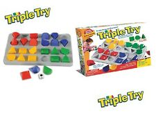 Triple Try Game Kids Strategy Board Game Shapes Colors Educational Family Time