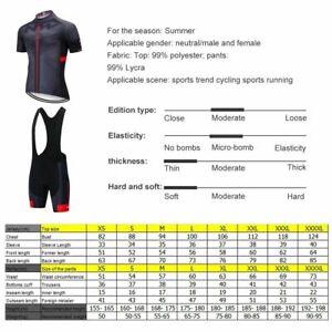 2020 Q5M6K New Team Mountain Racing Cycling Short Sleeve Jersey bib Shorts Size