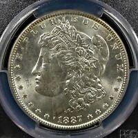 1887 Morgan Silver .900 Dollar $1 PCGS MS63   RG530