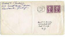Earlybird Gilbert G. Budwig Self-Addressed Signed Cover 1935