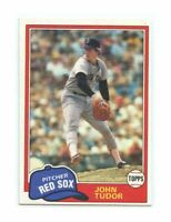1981 Topps #14 John Tudor Red Sox Rookie Card