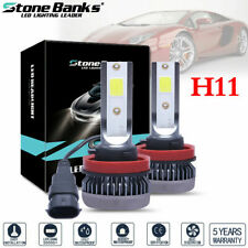 2x H11 Mini Ultra-light COB LED Headlight Hi-Low Beam Fog Bulbs 120W 26000LM US