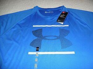 Under Armour 2XL t-shirt Velocity 2.0 Graphic HeatGear Royal Blue XXL LooseFit