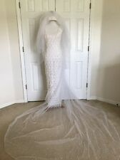 Lace And Pearl Encrusted Wedding Dress: Size 6