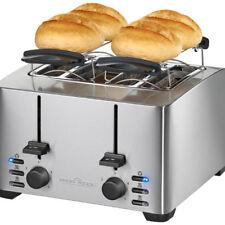 Tostadora 4 rebanadas pan extra anchas acero inox. calienta panecillos 1500 W