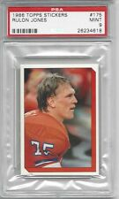 pop 2 - 1986 Topps Stickers #175 - Rulon JONES - PSA 9+++ Broncos (no 10s)
