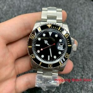 Vintage Automatic watch Submariner Men 39.5mm Dial Steel Mens Stainles Submarine