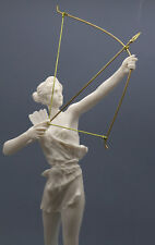 Artemis Diana with Bow Greek Roman Goddess Statue Sculpture Cast Marble 15.9΄΄