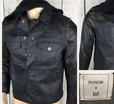 En Noir GAP Jacket Denim Leather Hooded 3 In 1 Coat Black Limited Edition Men S