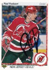 PAUL YSEBAERT, NEW JERSEY DEVILS, RARE AUTO'D/SIGNED NHL CARD.