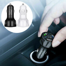 3-Port Usb Auto Car Charger Adapter Led Display Qc 3.0 Fast Charging Accessories (Fits: Charger)