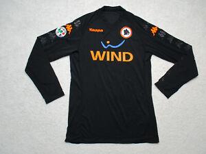 AS Roma Football Soccer Shirt Adult 2XL Black WIND Kappa Long Sleeve XXL