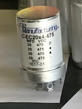 CAPACITOR CAN 20/20/20/20 µF @ 475 Volts VDC for Dynaco PAS  CITATION II