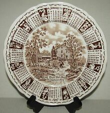 God Bless Our House Throughout 1972 Calendar Collector Plate - Alfred Meakin