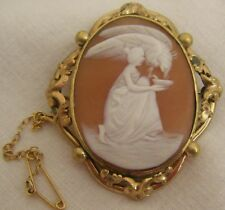 An Antique Mid C19th Victorian Italian Naples Carved CAMEO With Pinchbeck Mount!