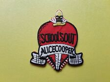 POP, ROCK, PUNK, METAL MUSIC SEW ON & IRON ON PATCH:- ALICE COOPER SCHOOL'S OUT