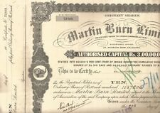 19-- India share Certificate: Martin Burn Limited