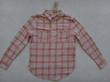 Levi's Pink Plaid Blouse Womens Two Pocket $55 Boyfriend Fit 100% Cotton Size XS