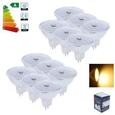 10x 5W MR16 LED Bulbs GU5.3 SMD Lamps Spotlight Warm White Downlight Glass Cover