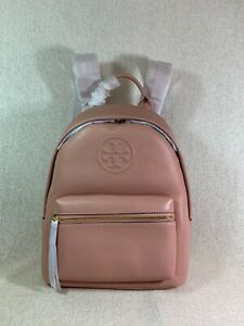 NWT Tory Burch Pink Moon Leather Small Bombe Backpack $328