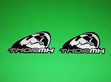 THOR MOTOCROSS JERSEY GLOVES PANTS HELMET BLACK & WHITE SLANT STICKERS DECALS
