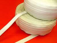 Roman Blind Slotted Rod Tape Cream / White Buy Any Amount You Need