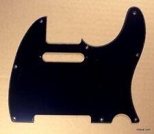 (A80) Guitar Pickguard Fits Tele Standard style guitar ,Single Ply Black