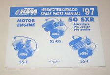 Teilekatalog Motor KTM 50 SXR - Modelljahr 1997!