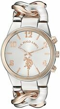 U.S. Polo Assn. Women's Quartz Metal and Alloy Casual Watch, Color:Two Tone NEW