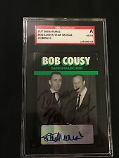 BOB COUSY & STAN MUSIAL 1992 BOB COUSY SIGNED AUTOGRAPHED CARD SGC AUTHENTIC