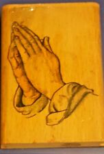 Praying Hands Rubber Stamp Religious Easter Jesus Bible Church