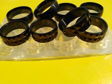 NEW! Clear silicone rings Molds SIZE Faceted-7,8,9,10.black or 8.9.10.5,12(G-02)