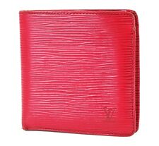 Authentic LOUIS VUITTON Marco Red Epi Leather Bifold Wallet Coin Purse #36587A