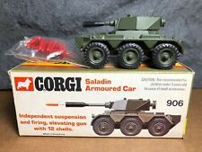Vintage Corgi | #906 | Saladin Armored Car | 1974 | With Box and Shells