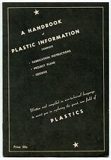 """1946 Vintage """"Barnett Specialty Co"""" Booklet: """"A Handbook of Plastic Information"""""""