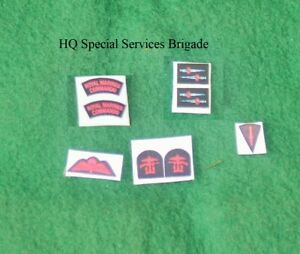 1/6 scale WW2 British HQ Special Services Brigade Patch lot