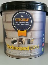 5L TECHNOSEAL LIQUID DPM NO MORE DAMP PROOF WATER PROOFING PAINT BLACK STOP