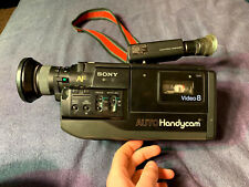 Vintage Sony Auto Handy Cam Video 8 CCD-V5 w/case & Accessories (As Is) 1980's