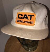 Vintage CAT DIESEL POWER 80s USA K-Products Caterpillar Trucker Hat Cap Snapback