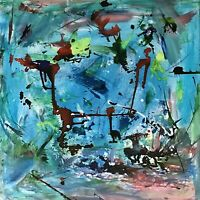 "STEVE STILGENBAUER ABSTRACT EXPRESSIONIST 36"" X 36"" PAINTING CONTEMPORARY MODERN"