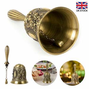 Classic Metal Tea Hand Bell Loud Call Hand Held Service Bell Alarm Decoration