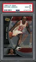 1998-99 Upper Deck Ionix #5 Michael Jordan Chicago Bulls HOF PSA 10 GEM MINT